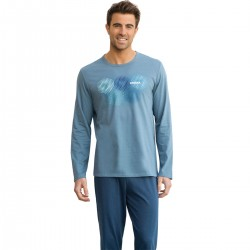 Long-sleeve men's pyjamas O eco Pack Athena