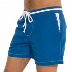 Shorts de bain bleu marine - details blancs - BLUEBUCK SW1-MBWH