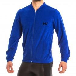 Sweat à capuche Bull - bleu
