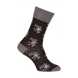 Chaussettes Fleurs Laine Noir - LABONAL 38994 8000