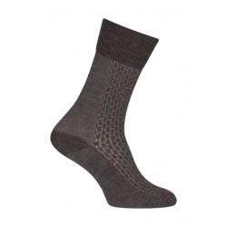 Chaussettes Ajourées bicolores vertical Laine Gris - LABONAL 38883 3000