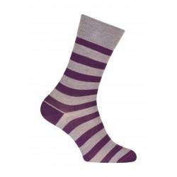 Striped socks Navy wool grey