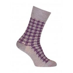 Socks foot of Rooster wool grey