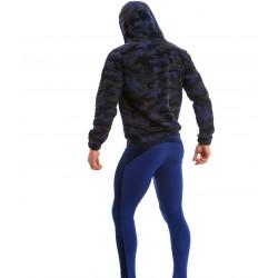 Sweat à capuche Jock - kaki - MODUS VIVENDI 17851-BLUE