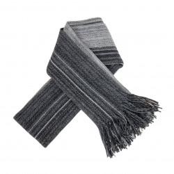Echarpe rayure bicolore gris - LABONAL 75246 4000