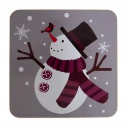 Coffret Chaussette Fantaisie flocons bonhomme de neige - LABONAL 34803-GRIS