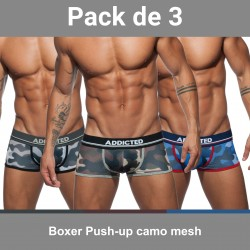 Boxer Push-up camo mesh (Lot de 3)