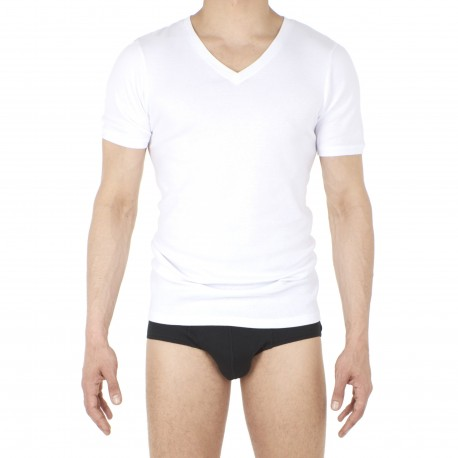 T-shirt col V Casual RIB - HOM 401424-0003
