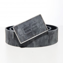 Ceinture cuir camo - gris - ES COLLECTION AC075 C17MOD