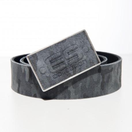 Ceinture cuir camo - gris - ES COLLECTION AC075 C17MOD
