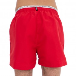 Short de bain court avec double ceinture - Lipstick Red - CALVIN KLEIN KM0KM00310-654
