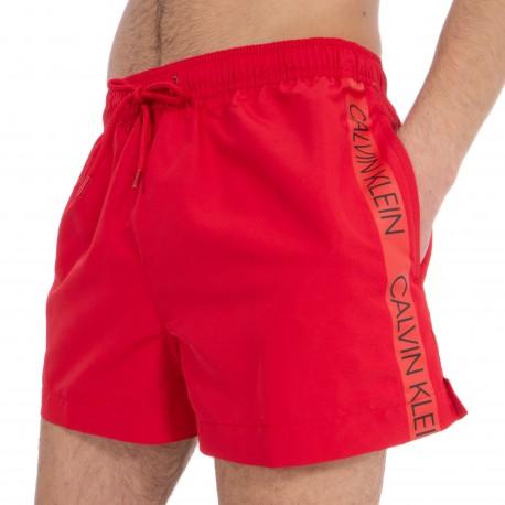 Short de bain Drawstring - rouge - CALVIN KLEIN KM0KM00269-654