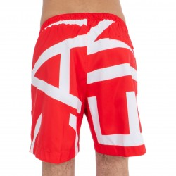 Short de bain Medium Drawstring - Klein abstract flame scarlett - CALVIN KLEIN KM0KM00274-669