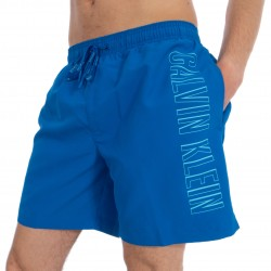 Medium Drawstring Swim Shorts - blue - CALVIN KLEIN *KM0KM00291-446