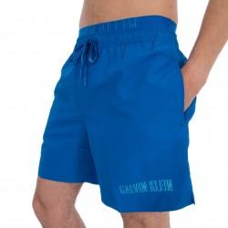 Shorts de baño con cintura doble - azul - CALVIN KLEIN *KM0KM00300-446