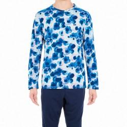 Pyjama long - Aqua Flower - HOM *401471-00RA