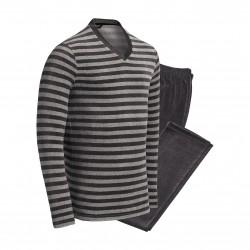 Pyjama rayé gris - IMPETUS 4553G60-927