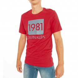 T-shirt Crew Neck 1981 - rouge - CALVIN KLEIN *NM1708E-1XY
