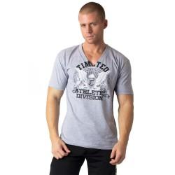 acheter-des-articles-de-mode-pour-homme-Timotéo-T-shirt VNeck gris - T-shirt manches courtes