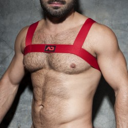 Basic elastic Harness - rouge - AD FÉTISH ADF104 C06