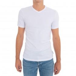 T-Shirt Stretch Cotton - blanc - BIKKEMBERGS B41300T41-1100