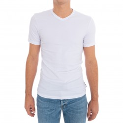 T-Shirt Stretch Cotton - blanc - BIKKEMBERGS B41300T41-1100