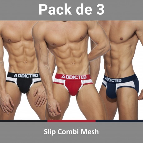 Slip Combi Mesh (Lot de 3) - ADDICTED AD845 3COL