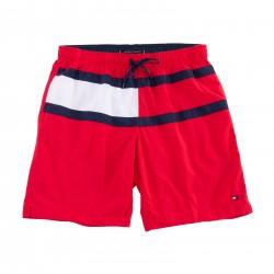 Short de bain Grande Taille Tommy medium drawstring drapeau - rouge - TOMMY HILFIGER UM0UM01857-XL7