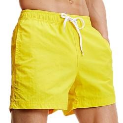Short de bain à cordon de serrage contrasté - Bold Yellow - TOMMY HILFIGER UM0UM01080-ZGT