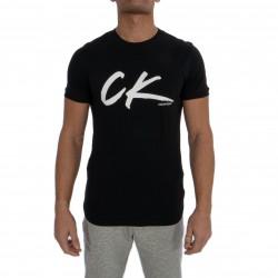 T-Shirt Calvin Klein Retro Crew Tee - PVH Black - CALVIN KLEIN -KM0KM00467-BEH