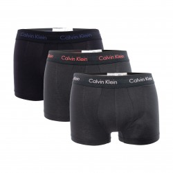 3 Pack Low Rise Trunks - Cotton Stretch black - CALVIN KLEIN -U2664G-WHB