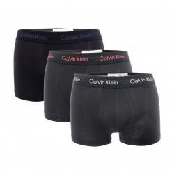 Boxer aderenti a vita bassa in confezione da 3 - Cotton Stretch nero - CALVIN KLEIN -U2664G-WHB