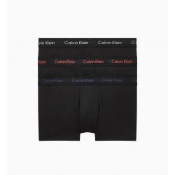 Low Rise trunk Cotton Stretch (Lot de 3) - noir - CALVIN KLEIN -U2664G-WHB