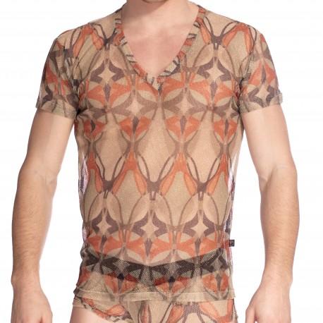 Destin - T-shirt Col V - L'HOMME INVISIBLE MY73-DES-120