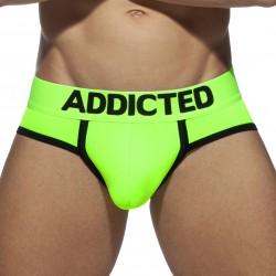 Slip swimderwear Néon avec cockring - vert - ADDICTED AD917 C33