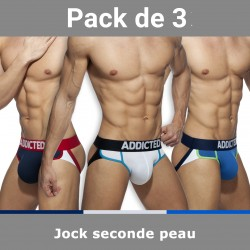 Jockstrap seconde peau (Lot de 3) - ADDICTED AD899 3COL