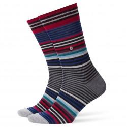 Chaussettes Stripe rayées - noir - BURLINGTON 21057-3001