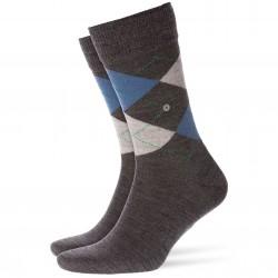Chaussettes EDINBURGH - gris/bleu - BURLINGTON 21182-3090
