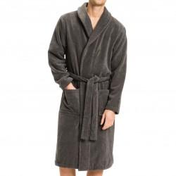 Peignoir en coton éponge - gris - TOMMY HILFIGER 2S87905539-884