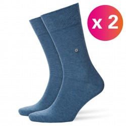 Chaussettes Everyday lot de 2 - light denim - BURLINGTON 21045-6660