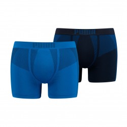 Lot de 2 shorts boxers Active sans couture - bleu - PUMA 601010001-001