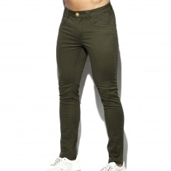 Pantalon Slim - kaki - ES COLLECTION ESJ057-C12