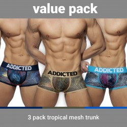 Trunk Tropical mesh push-up (Lot de 3) - ADDICTED AD890-3COL