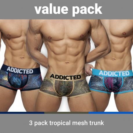 Trunk Tropical mesh push-up (Lot de 3) - ADDICTED AD890-3COL