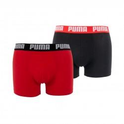 Lot de 2 boxeurs Basic - rouge et noir - PUMA 521015001-786