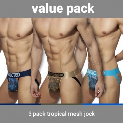 Slip Tropical mesh Push-up (Lot de 3) - ADDICTED AD911P 3COL