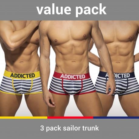 Trunk Sailor mesh (Lot de 3) - ADDICTED AD965P 3COL