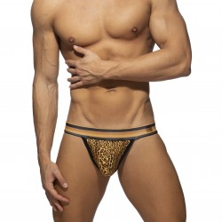 Léopard Stripe ass Freedom swimderwear - marron - ADDICTED ADS269-C13
