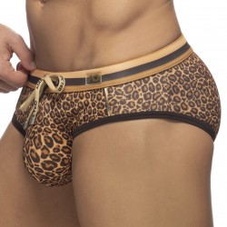 Slip de bain Léopard Stripe - marron - ADDICTED ADS267-C13