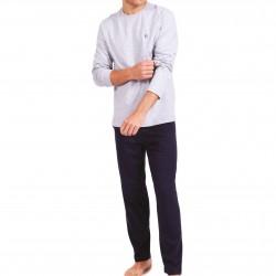 Pyjama long col rond homme Fait en France Eminence - gris - EMINENCE 7V14 3668